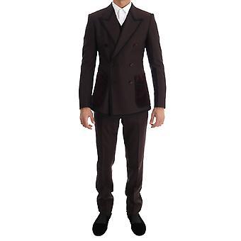 Dolce & Gabbana Bordeaux Torero 3 Piece Sicilia Suit