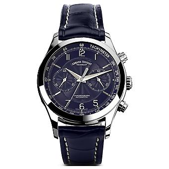 Armand watch nicolet m02-3 9744a-bu-p974bu2 automatic chronograph watch for Swiss Automatic Automatic Analog Man watch with cowhide bracelet 9744A-BU-P974BU2