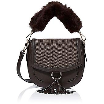 Hotter Adeline Brown Women's Bucket Bag (Chocolate/Herringbone) 21 x 18 x 61 cm (W x H x L)