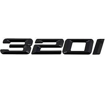 Gloss Black BMW 320i Car Model Rear Boot Number Letter Sticker Decal Badge Emblem For 3 Series E36 E46 E90 E91 E92 E93 F30 F31 F34 G20