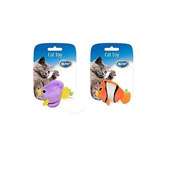 Duvo+ Fish Cat Toy Assortment 2 Uni. 9 X 7.5 X 3.5 Cm