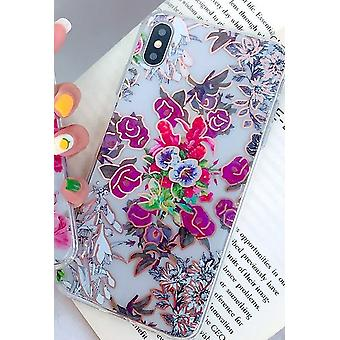 Mobile shell for iPhoneXR in beautiful pattern with flowers