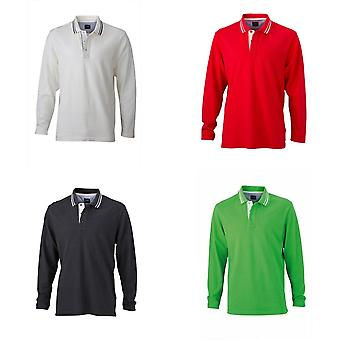 James und Nicholson Mens Long Sleeved Polo