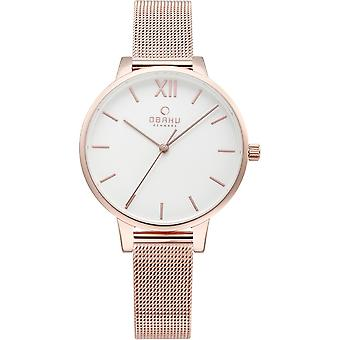 Obaku Liv Rose Gold Tone Women's Wristwatch V209LXVIMV