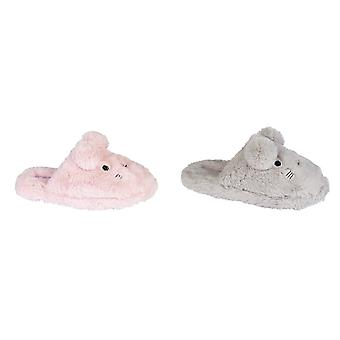 Zedzzz Childrens Girls Traci Plush Rabbit Slipper