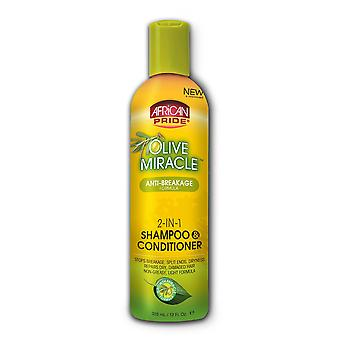 African Pride Olive Miracle Anti-Breakage 2-em-1 Shampoo & Condicionador 355ml