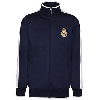 Real Madrid Mens Jacket Track Top Retro cadeau de football officiel