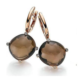 Diamond Gemstone Earrings Earrings - 18K 750/- Red Gold - 0.04 ct. - 20.51 ct.
