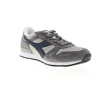 Diadora Titan II  Mens Gray Suede Lace Up Low Top Sneakers Shoes