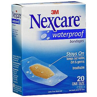 Nexcare waterproof clear bandages, one size, 20 ea