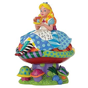 Disney By Britto Alice In Wonderland Alice On Mushroom Figurine