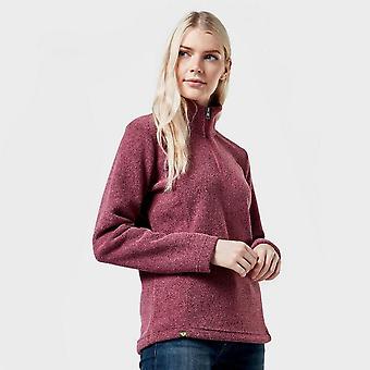 New Brasher Women's Half Zip Fleece Pink