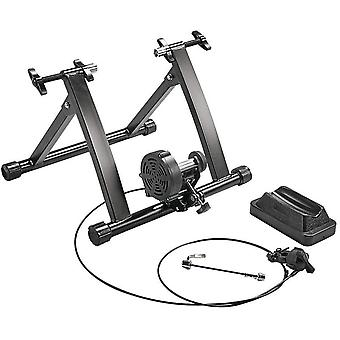 Magnetic Turbo Trainer, Variable/Foldable Indoor Bike Trainer 8 Level Magnetic Resistance Turbo Trainer,Black