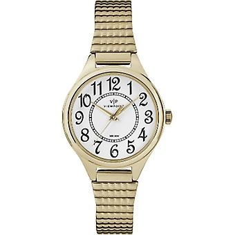 CC3D82200, Viewpoint di Timex CC3D82200 Women's Gold-Tone Stainless Steel Expansion Band Watch