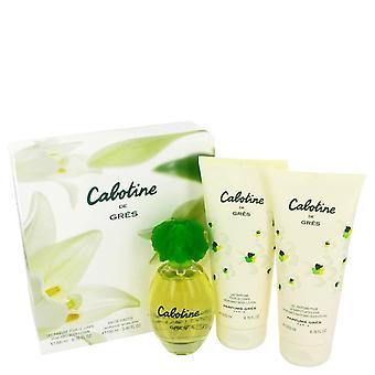 Cabotine Gift Set By Parfums Gres 3.4 oz Eau De Toilette Spray + 6.7 oz Body Lotion + 6.7 oz Shower Gel