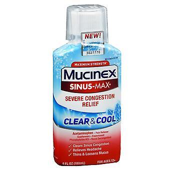 Mucinex dm clear & cool sinus max, severe congestion, 6 oz