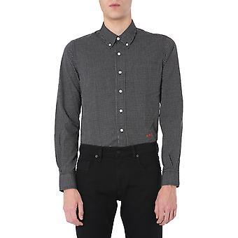 Ami P20hc006406004 Männer's schwarze Baumwolle Shirt