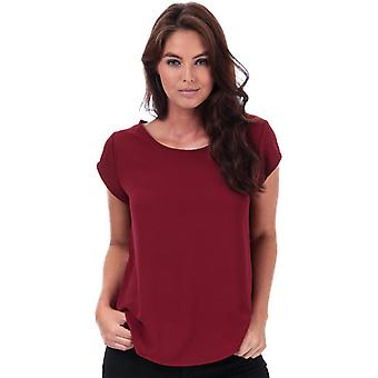 Women's Only Vic Short Sleeve Top in Red