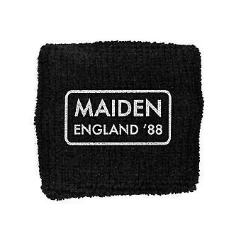 Logo de banda Iron Maiden Sweatband Maiden Inglaterra oficial nuevo negro algodón