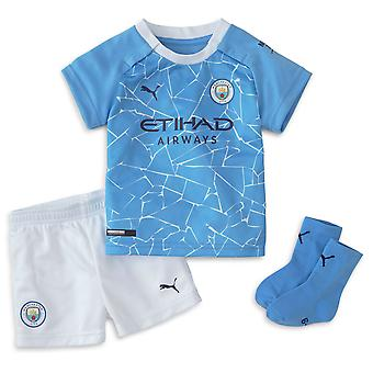 Puma Manchester City 2020/21 Infant Kids Baby Home Football Kit Blue