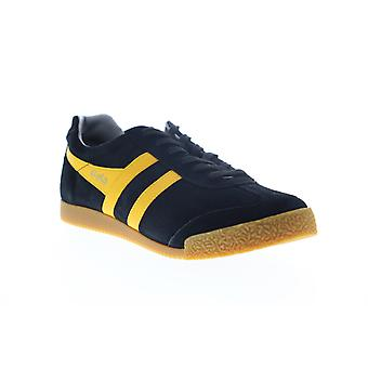 Gola Harrier Suede  Mens Black Lace Up Lifestyle Sneakers Shoes