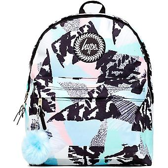 Hype Pastel Abstract Pom Pom Backpack Bag Blue 04