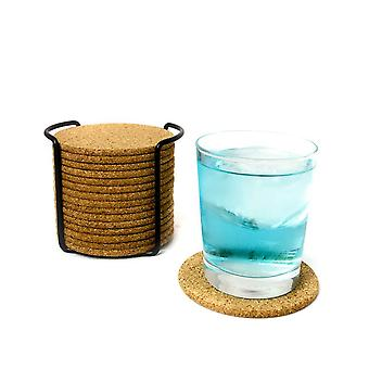 Natural Round Wooden Slip Slice Cup Mat Coaster Tea Coffee Mug Drinks Holder