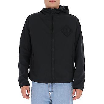 Fendi Faa722ad2if0gme Männer's Schwarz Nylon Outerwear Jacke