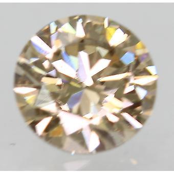 Cert 0.50 Carat Light Brown VVS1 Round Brilliant Natural Loose Diamond 5.05m 3EX