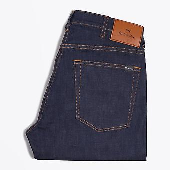 PS Paul Smith  - Tapered 'Crosshatch Stretch' Jeans - Indigo Rinse