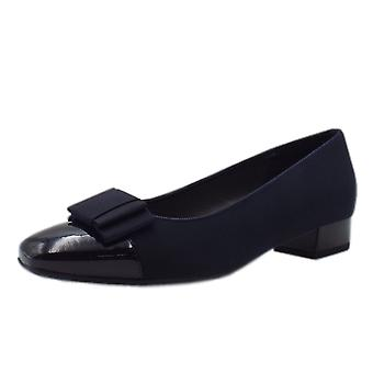 Peter Kaiser Nancie Wide Fit Low Heel Court Shoes In Navy