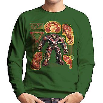 Marvel Avengers Infinity War Hulkbuster Technical Men's Sweatshirt
