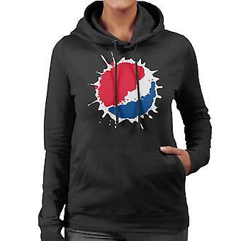 Pepsi Splash Logo Women's Hooded Sweatshirt