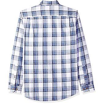 أساسيات الرجال & apos;ق سليم صالح طويل الأكمام اثنين من جيب Twill قميص, البحرية / وهي ...