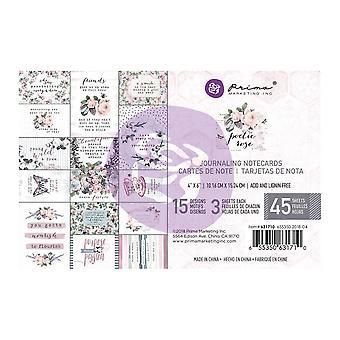 Prima Marketing Poetic Rose 4x6 Cartes journal