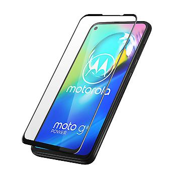 Screen protector for Motorola Moto G8 Power 9H Tempered Glass, Contour - Black