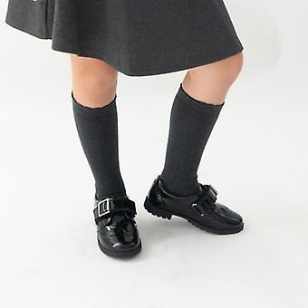 الصمت الجراء إميلي بنات الجلود أحذية المدرسة براءات الاختراع الأسود