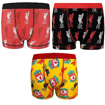 Liverpool FC Official Football Gift 1 Pack Boys Boxer Shorts