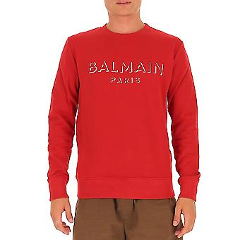 Balmain Uh13277i3643aa Men's Red Cotton Sweatshirt