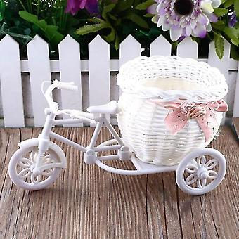 Modern Rattan Tricycle Bike Basket Flower Decor Tool - Home, Garden, Wedding,