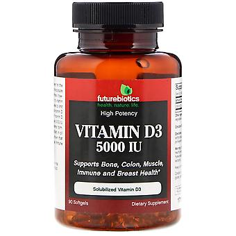FutureBiotics, Vitamin D3, 5,000 IU, 90 Softgels