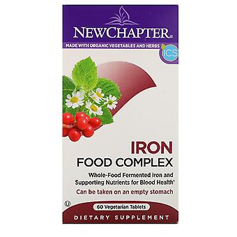 New Chapter, Iron, Food Complex, 60 Vegetarian Tablets