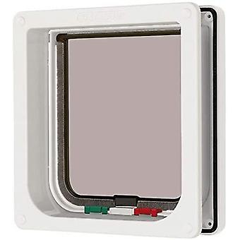 キャットメイト4ウェイロックフラップ&ライナー - ホワイト - 16.5x17.4cm