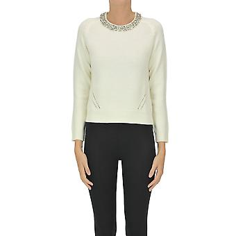 Nenette Ezgl266154 Femme-apos;s Pull en laine blanche