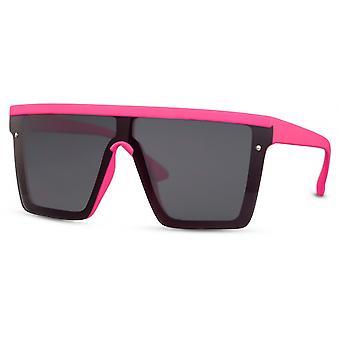 نظارات شمسية المرأة القط مستطيلة. 3 وردي / أسود