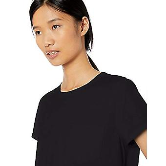 Brand - Goodthreads Women's Washed Jersey Cotton Pocket Crewneck T-Shirt, Black,Small