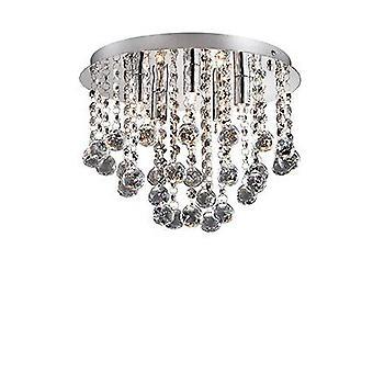 Ideal Lux Bijoux - 5 Leve Grande Semi Flush Teto Leve Cromo, Cristal, G9