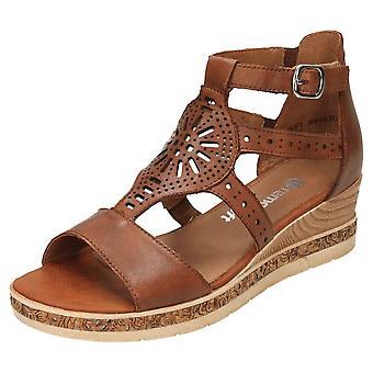 Remonte Wedge Heel Platform Gladiator Sandals D3053-24 Open Toe
