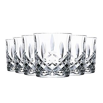 RCR Crystal Orchestra Cut Glass DOF Double Old Fashioned Whiskey Glasses Tumblers Set - 340ml - Pack of 6