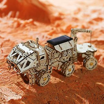 3d Diy Discovery Rover Solar Energy Space Jagt træ model bygning kits